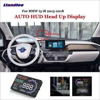Liandlee For BMW i3 i8 E90 E39 2013-2018 OBD Safe Driving Screen Car HUD Head Up Display  Projector Refkecting Windshield