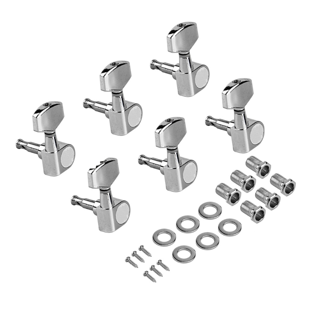 Electric Guitar Tuning Pegs Tuners Machine Heads for Acoustic Parts 6R Chrome in Guitar Parts Accessories from Sports Entertainment