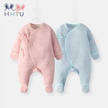 HHTU Newborn Romper Toddler Baby Boys Girls Cotton Long Sleeve Soft Infant Clothing Autumn Jumpsuits Outfits Warm Clothes