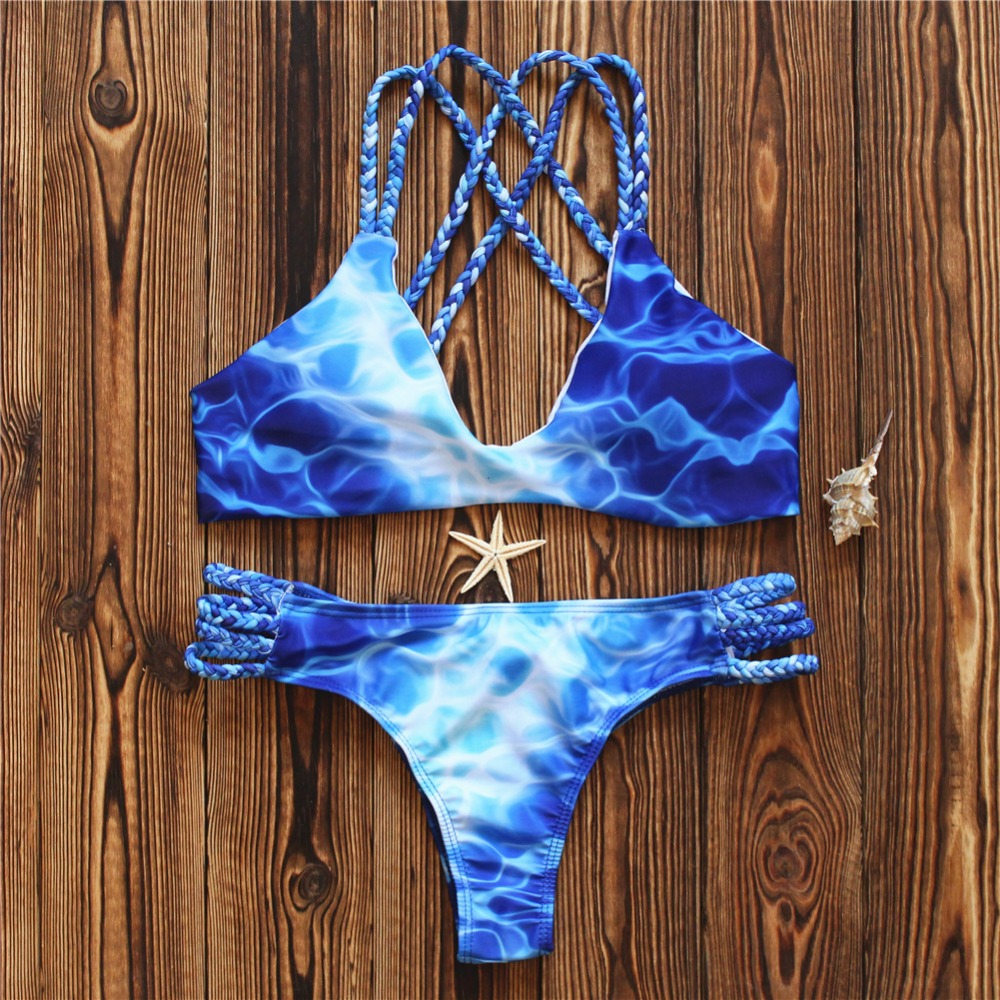 Brazilian Thong Bikinis 2018 Women Swimsuit Push Up Swimwear Female Mayo Summer Beach Sexy Bathing Suit Biquine Bathers Miao