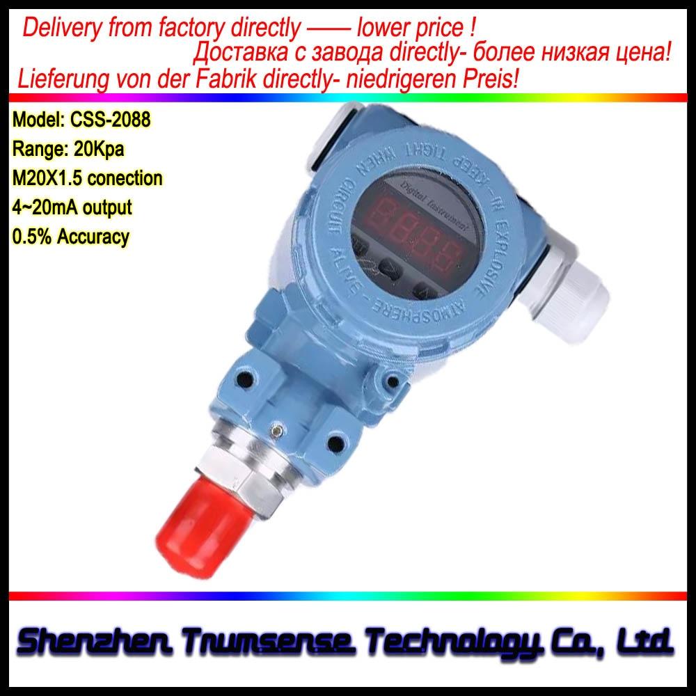 1 Piece LCD Liquid Crystal Digital Display Pressure Transducer Ex-proof 5 BIT Digital Display Pressure Transmitter From Factory non cavity pressure transmitter transducer pst na
