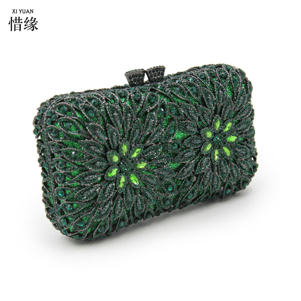 XIYUAN BRAND fashion women Bridesmaids clutch Minaudiere luxury party wedding clutch evening bag for birthday gifts