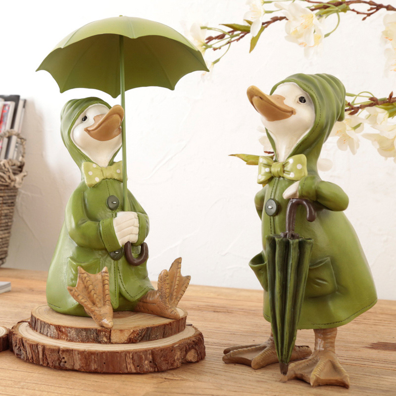 Kawaii home decoration gifts duck crafts ducking ornaments for Artificial decoration