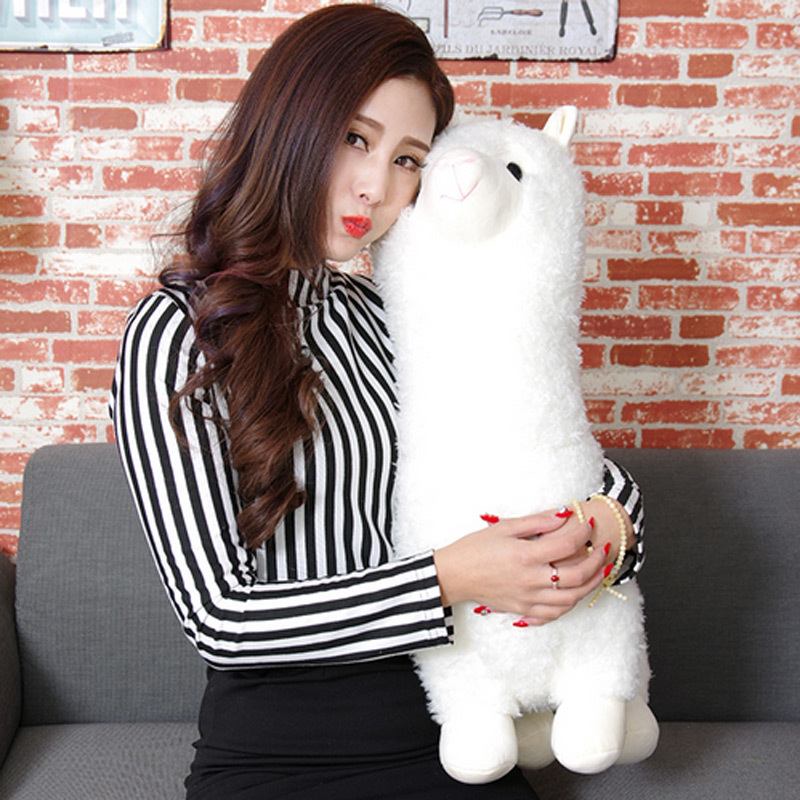 45cm PP Cotton 3 Types Japanese Alpacasso Soft Toys Doll Giant Stuffed Animals Lama Toy Kawaii Alpaca Plush Kids Christmas Gift hot 45cm good night alpaca toys japan amuse alpacasso arpakasso plush stuffed doll kids alpaca christmas gifts toy 5styles