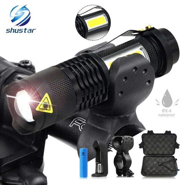 Bicycle Flashlight Holder 1000 Lumen Torch High Power LED Waterproof Light AA