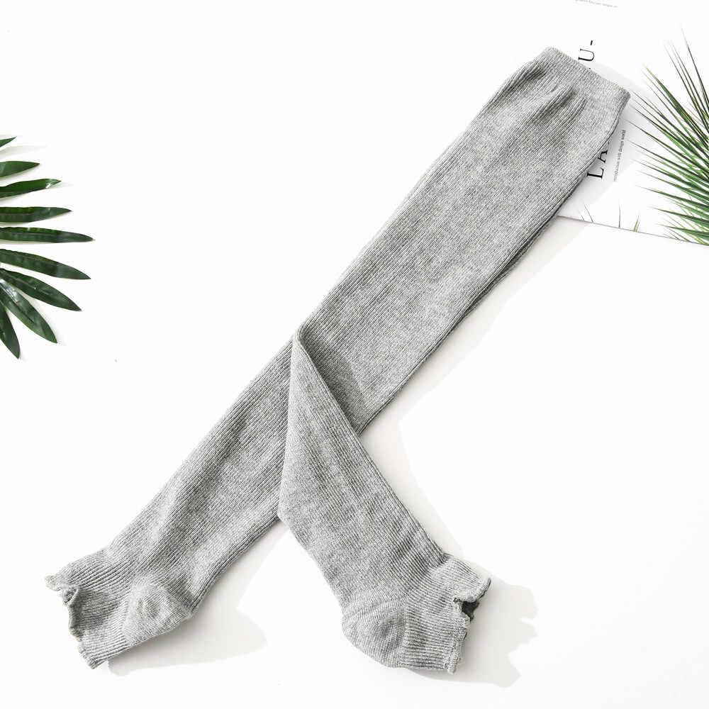 cotton knee socks Women Knit Long Boot Socks Over The Knee High Slim Leg Thigh Stockings socks women cotton solid skarpetki A75
