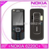 Refurbished Original Nokia 6220c Unlocked 6220 Classic Cell Phones GPS Mp3 Player FM Radio Russian Keyboard