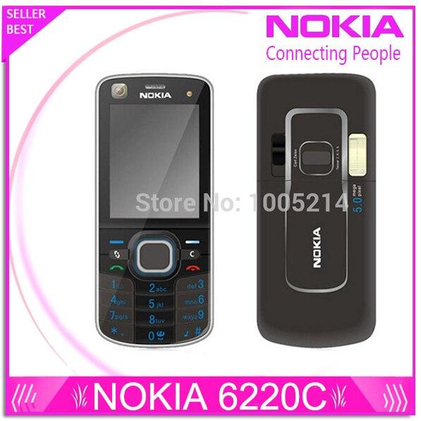 Original Nokia 6220 Classic A GPS 3G 5MP Camera 6220c mobile phone wholesale Nokia 6220 Refurbished