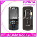 Refurbished Original Nokia 6220c Unlocked 6220 Classic Cell Phones GPS mp3 player FM radio Russian Keyboard Free shipping