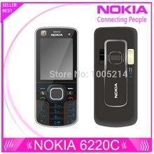 Восстановленное в исходном Nokia 6220c открынный 6220 классический сотовых телефонов GPS mp3-плеер FM радио россии клавиатура бесплатная доставка