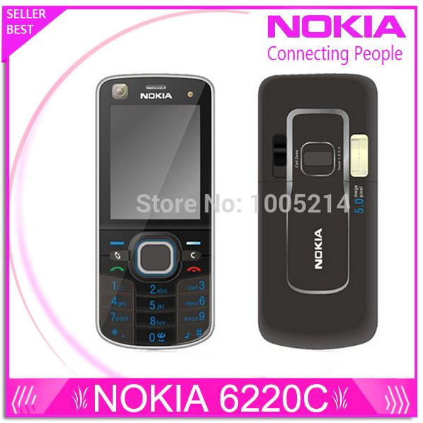 Restaurado Original Nokia 6220c desbloqueado 6220 Classic teléfonos celulares GPS mp3 radio FM teclado ruso envío gratuito