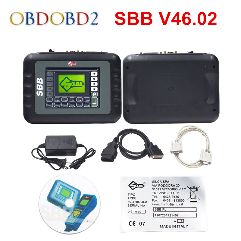 Best Slica SBB V46.02 Key Programmer with 9 Languages Same Function As CK100 V46.02 Key Maker Support New Cars Till 2014