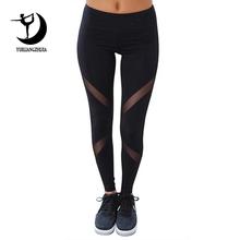 2019 high waist breathable Elastic fitness leggings for women fashion new female sports legging plus size