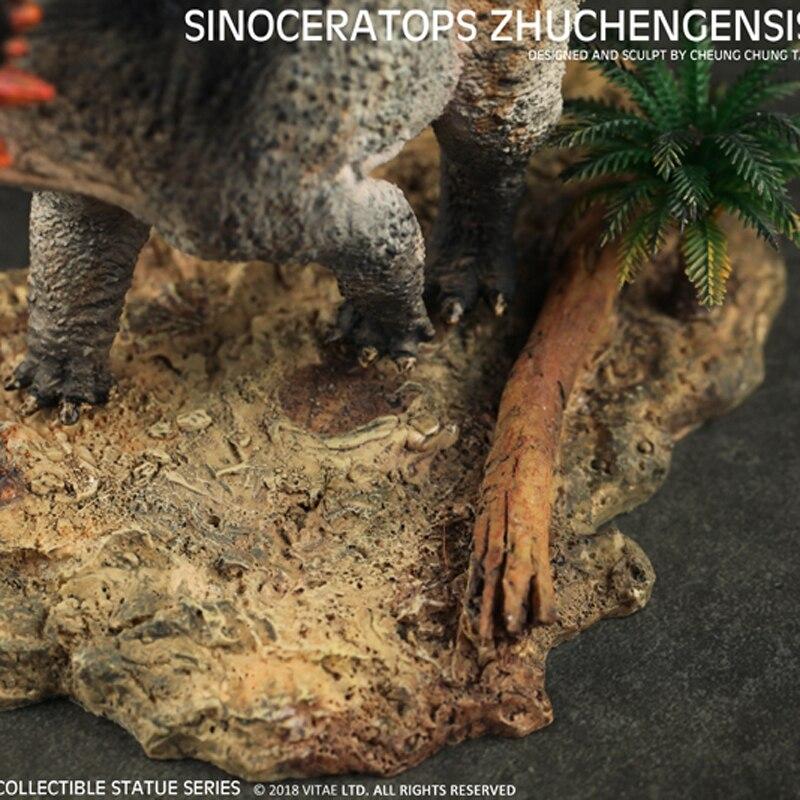 Vitae 쥬라기 선사 시대 동물 중국 공룡 sinoceratops zhuchengensis 수집가 수지 모델 1:35-에서액션 & 장난감 숫자부터 완구 & 취미 의  그룹 2
