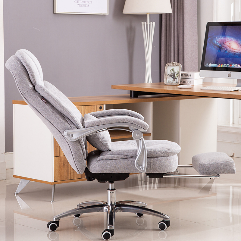 Computer Chair Fabric Household Office Lifting Chair PU Reclining Swivel Boss Chair High Back Silla Oficina Cadeira Gamer