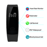 Diggro QS80 Bluetooth 4 0 Heart Rate 5 Colors Smart Wristband Sleep Monitor Call Reminder Steps