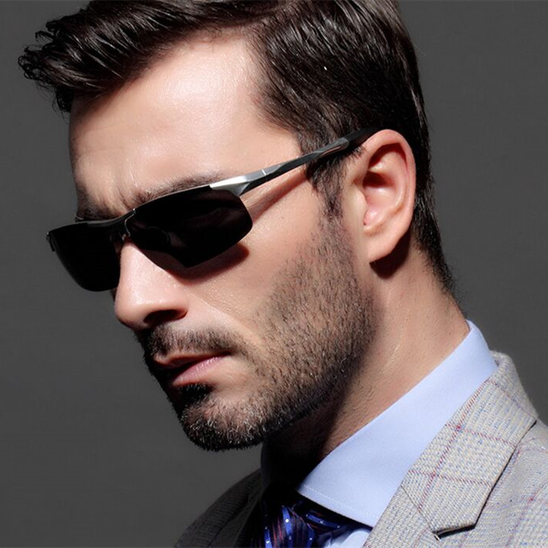 RunBird Aluminum Magnesium Polarized Sunglasses Men Brand Designer Fashion Eyes Protect Sun Glasses Gafas De Sol Hombre R562