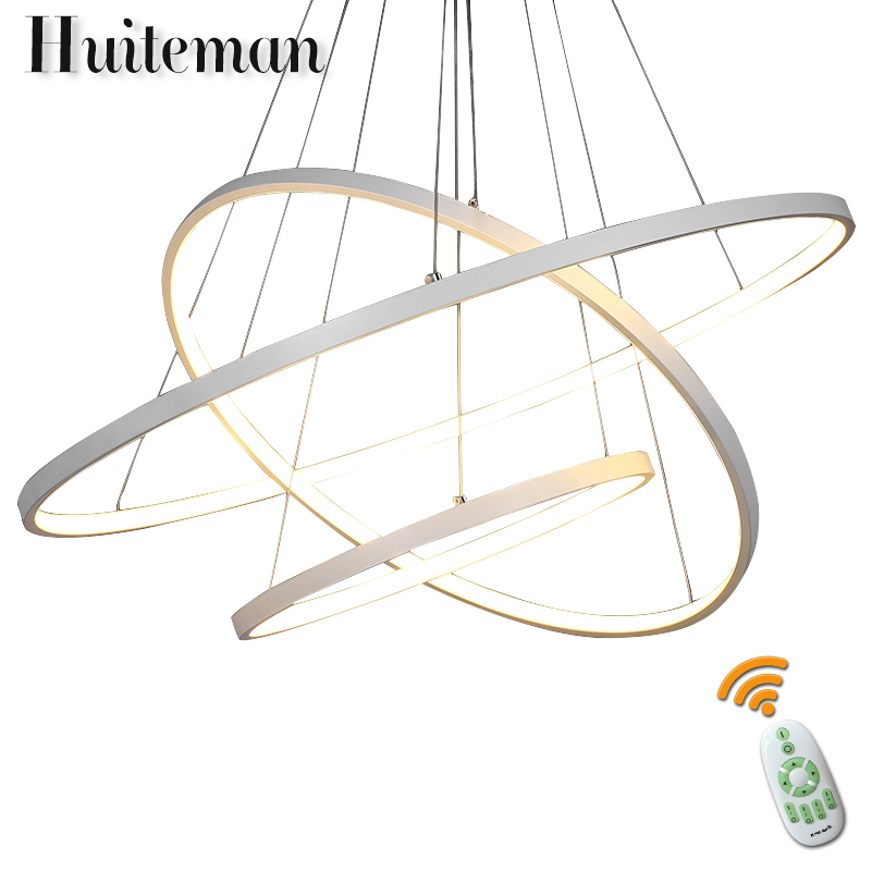 Huiteman Modern Simple Pendant Lights Hotel Hanging Ring Lighting Aluminum Acrylic Led Lights Parlor Suspension Ceiling Lamp vallkin luxury simple ring led pendant lights parlor study indoor home deco hanging lamp lighting with 32w d3050cm ce fcc rohs