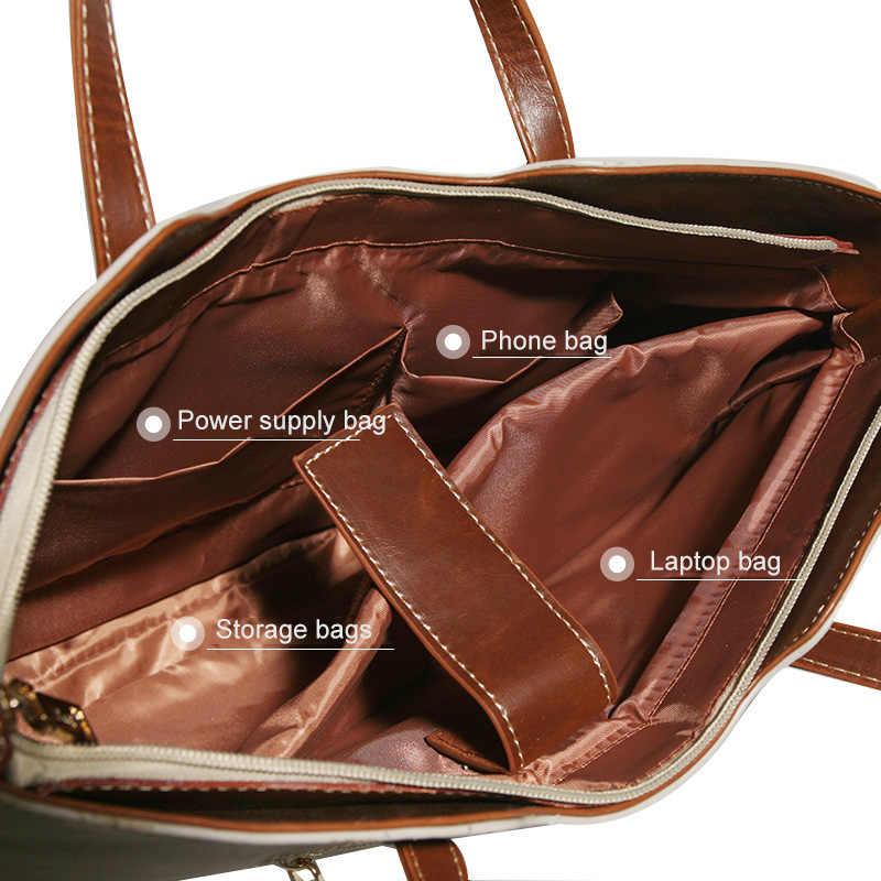 Style coréen 15 pouces mode femmes sac à main pour ordinateur portable étui pour macbook Air Pro 11 12 13 15 Lenovo ordinateur portable sac à bandoulière
