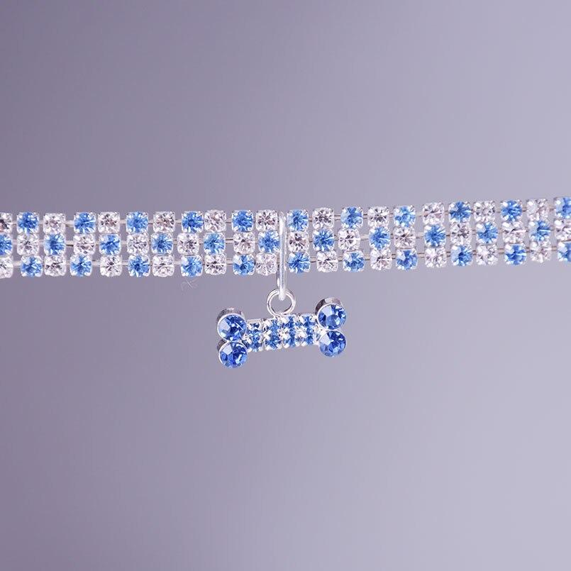 petit collier pour chien avec strass et diamant
