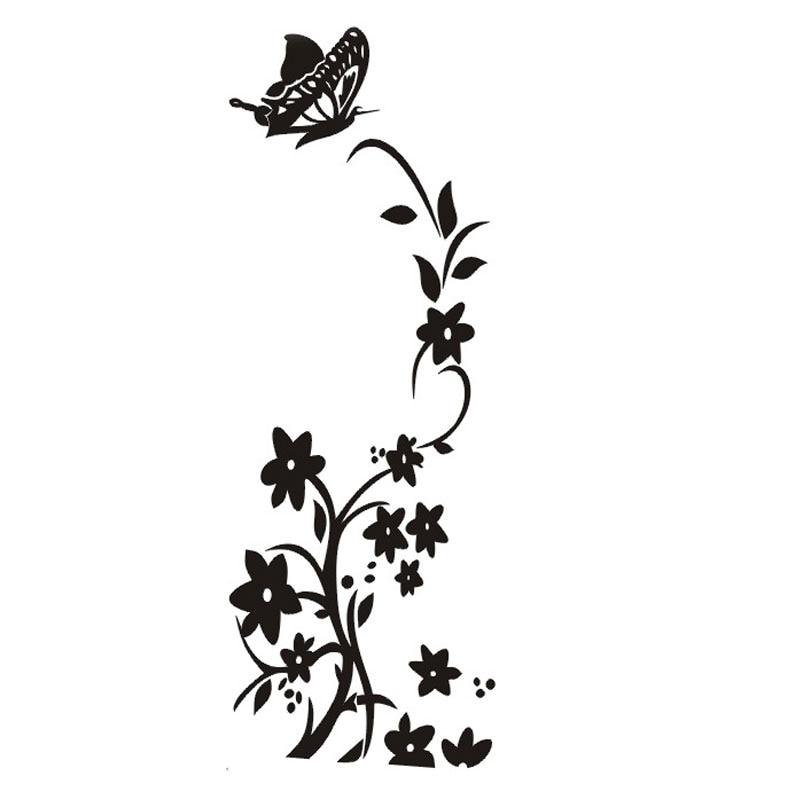 Blanco y negro nuevo caliente mariposa refrigerador vid de - Papel pintado blanco y negro ...
