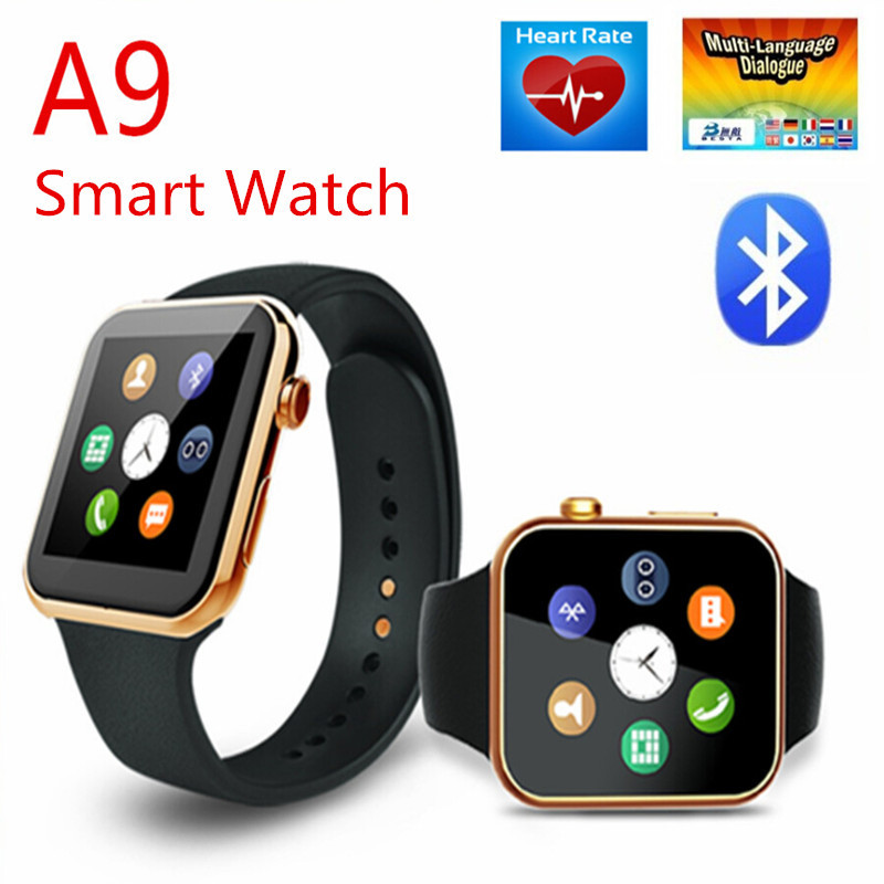 df0313589fc Vensmile A9 smart watch Bluetooth smartwatch Wrist Watch with Heart Rate  Monitor for iphone compatible Android smart phone watch