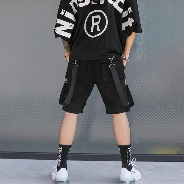 Men Multi-pocket Elastic Waist Shorts  2