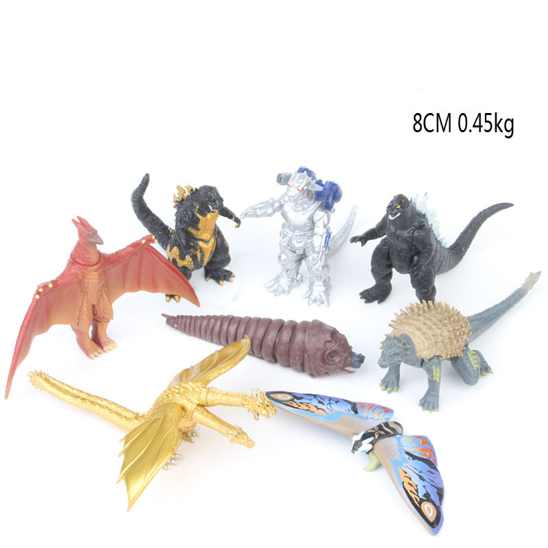 8Pcs Mini PVC Godzillaed Collectible Model Cartoon Toys Dolls Q Version Action Figures Kids Children Toys Christmas Gifts plan