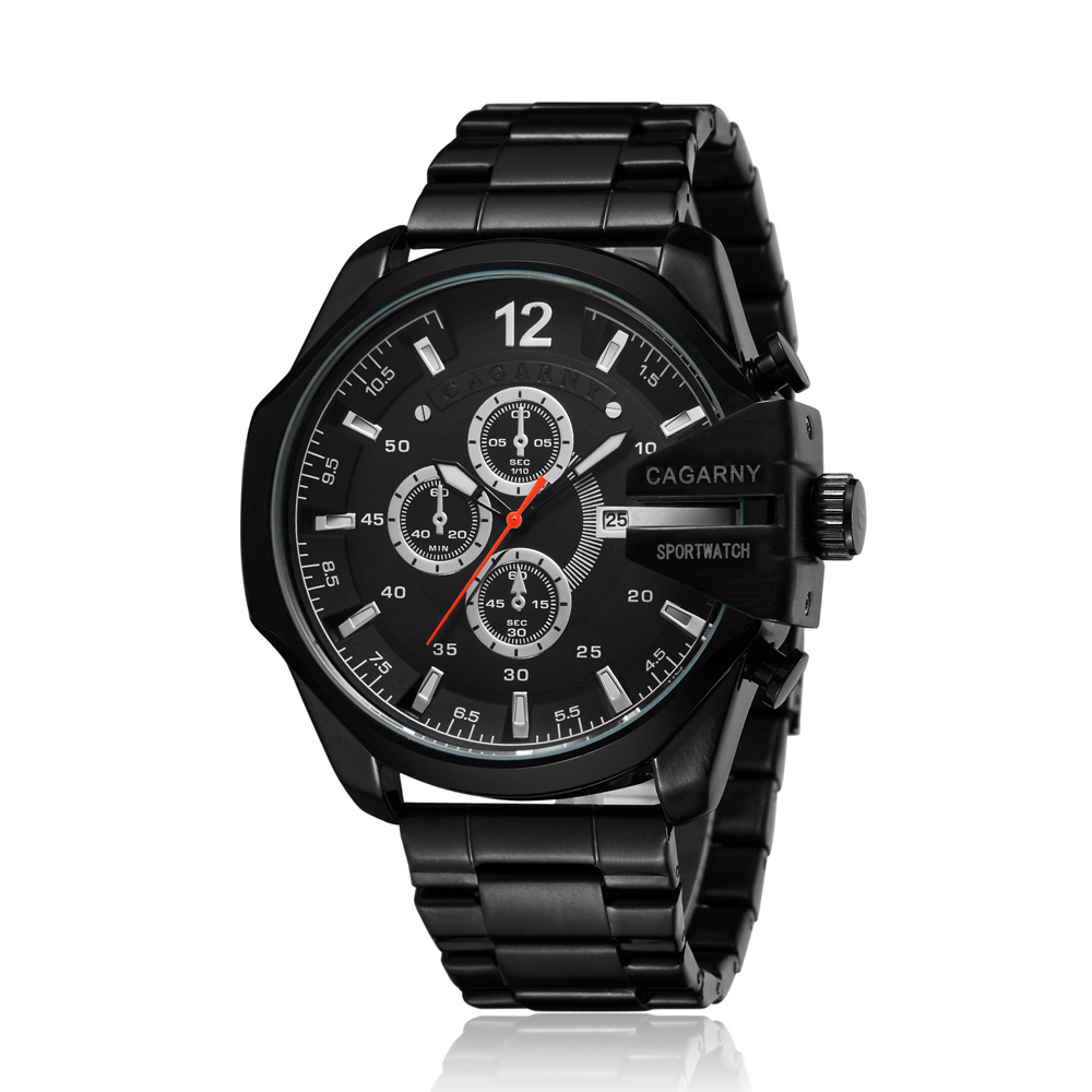 top luxury brand cagarny quartz watch for men gold steel band waterproof dz military Relogio Masculino mens watches drop shipping clock man cheap price (34)