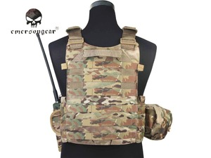 Image 3 - Emersongear LBT6094A Style Tactical Vest With 3 Pouches Airsoft Military Combat Vest AT FG EM7440G