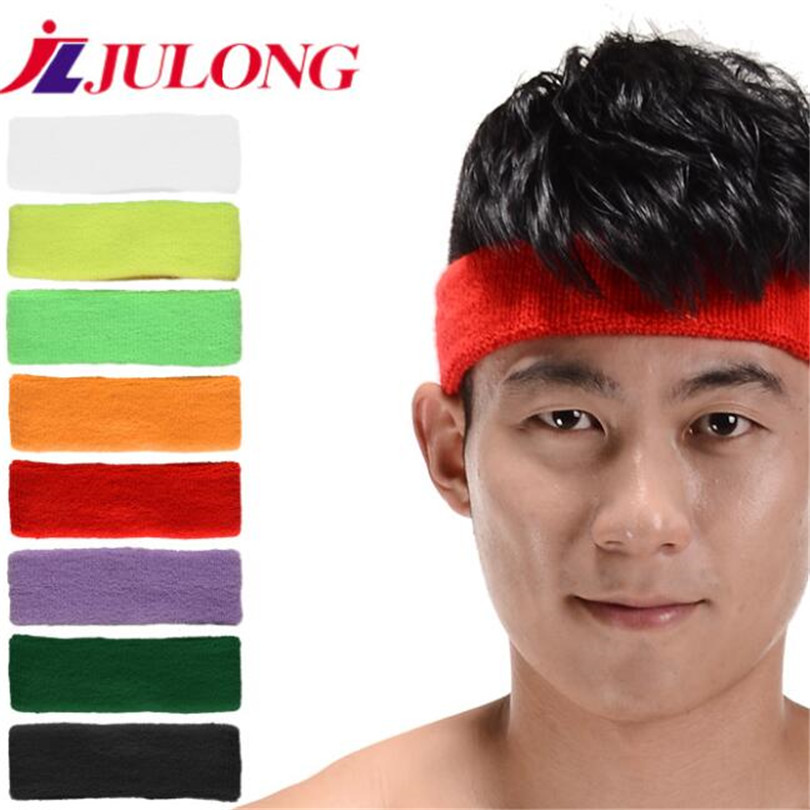 jLJULONG new 10PCS Sweat-absorbent sports headband basketball head fitness sport fitness belt Yoga Badminton tennis training 868