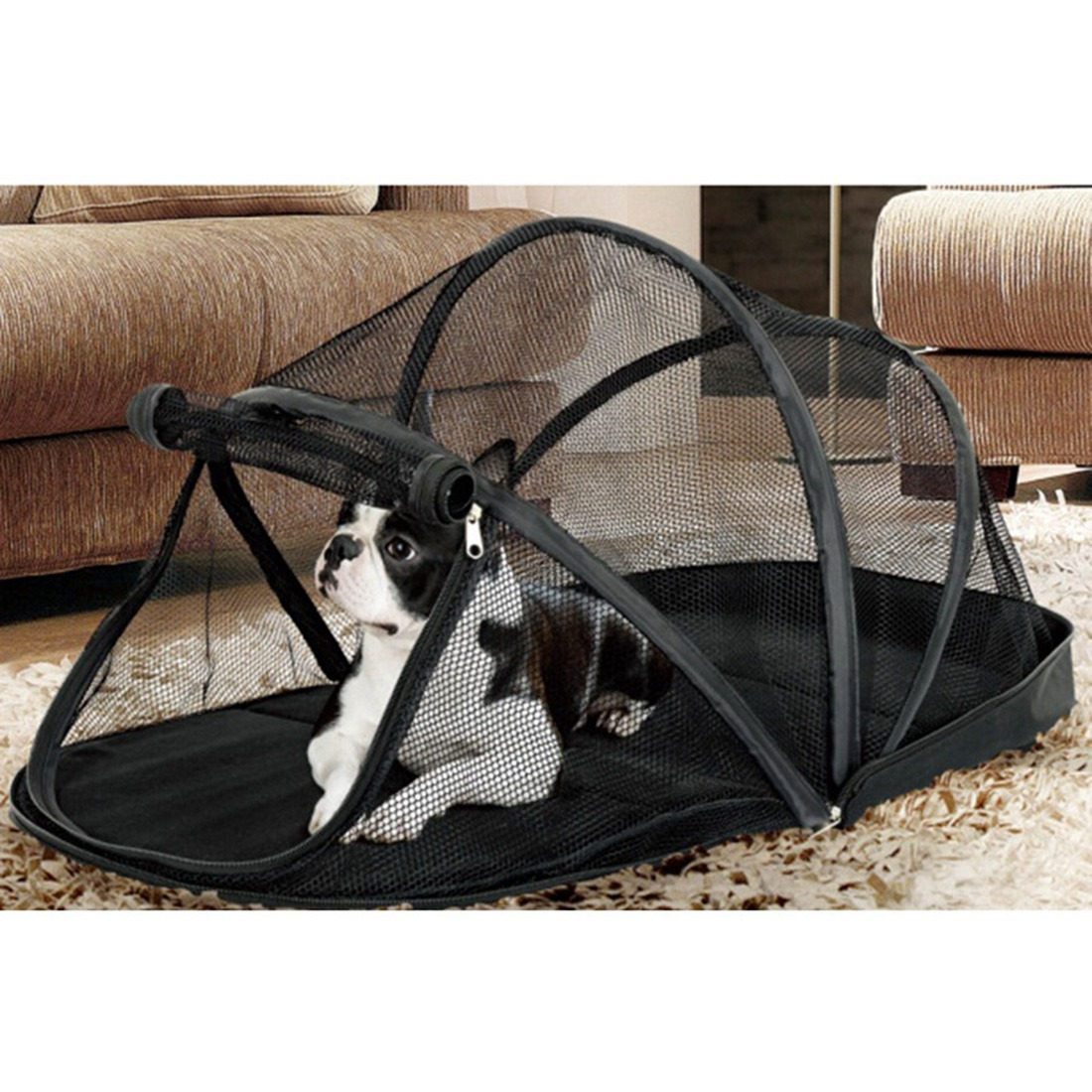 Portable Dog House Cage for Small Dogs Crate Cat Net Tent for Cats Outside Kennel Foldable Pet Puppy with Mosquito Net Tents ...