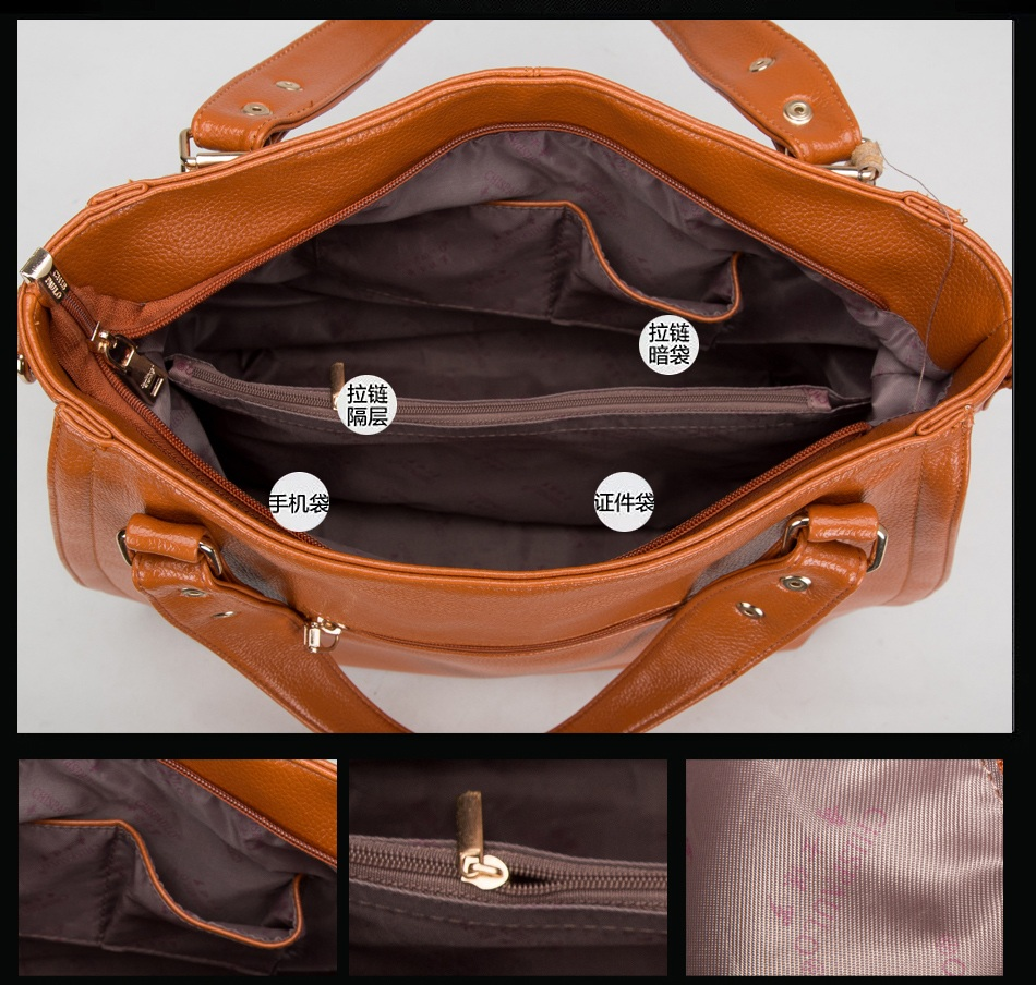 Jenama Terkenal Designer Handbags Berkualiti Tinggi Asli Kulit Wanita - Beg tangan - Foto 4
