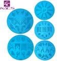 HOT 10PCS/Lot A Series Round Medium Size Stamp Stamping Image Konad Plate Print Nail Art Template DIY for nail stamping plates