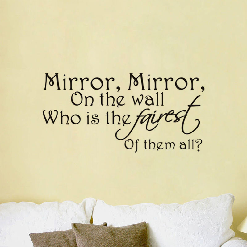 ... Snow White Magic Mirror Who Is The Most Fairest Wall Sticker Vinyl Wall  Art Decor Decal ...