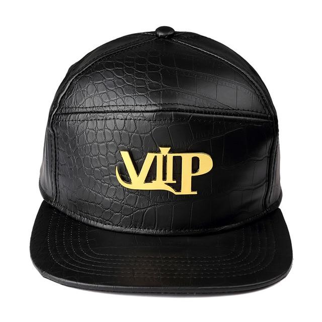 8bb9d92d65d High Quality Metal Mark VIP Star Snapback PU Hats Full Cap Hip Hop Baseball  Hats Popular