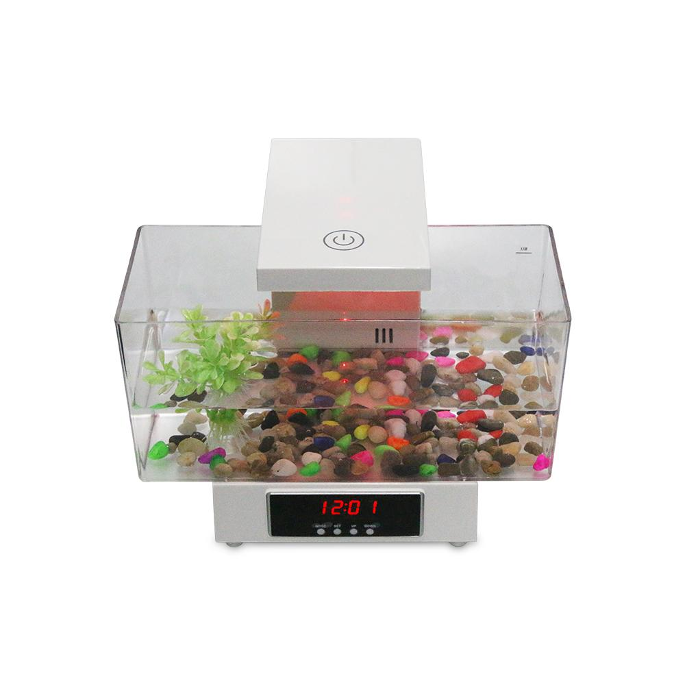Aquariums & Tanks Honest Mini Usb Fish Tank Aquarium Led Light Sound Recycled Water Small Electronic