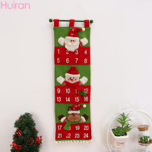HUIRAN 1PC Non-woven Fabric Hanging Christmas Advent Calendar Merry Ornaments 2019 Decorations for Home noel