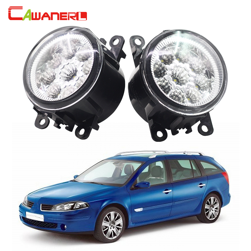 Cawanerl Car LED Bulb Daytime Running Light Fog Light DRL Blue Orange White 2 Pieces For Renault Luguna Coupe Grandtour new arrival a pair 10w pure white 5630 3 smd led eagle eye lamp car back up daytime running fog light bulb 120lumen 18mm dc12v