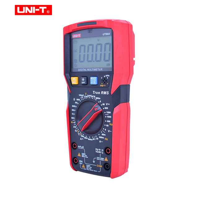 UNI-T UT89X/UT89XD true RMS Digital multimeter 20A high current digital multimeter NCV/capacitor/triode/temperature/LED test 5