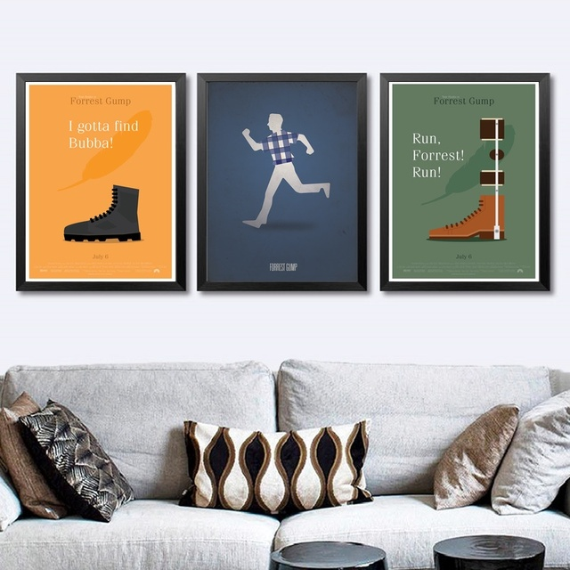 847f09045700d6 Forrest Gump TV Movie Poster Wall Art Wall Decor Silk Prints Art Poster  Paintings For Living Room