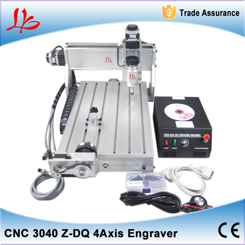 CNC 3040Z-DQ 4axis rotary axis CNC Router Engraver/Engraving Drilling and Milling Machine,free tax to EU high quality 3040 cnc router engraver engraving machine frame no tax to eu