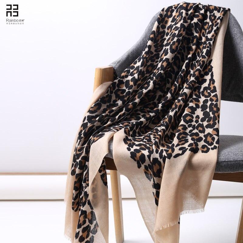 Leopard Print Scarfs for Ladies Shawl Winter Cashmere Scarf Designer Scarves 2018 Autumn Women Fashion Luxury Brand Winter Scarf