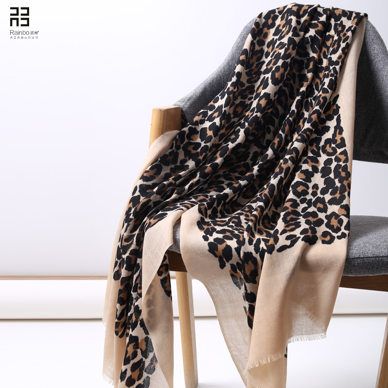 Leopard Print Scarfs For Ladies Shawl Winter Cashmere Scarf Designer Scarves 2018 Autumn Women Fashion Luxury Brand Winter Scarf