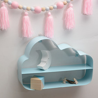 1 Pc Cloud Shape Wrought Iron Storage Rack Europe Style Simple Living Room Bedroom Background Wall Hanging Decorations