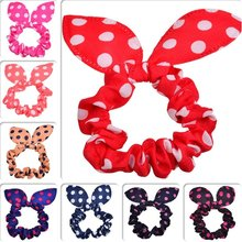 2018 New Best Goods Rabbit Ears Hair Fashion Wave Band Point Girl Women Beautiful Dot Printing Party Cute Red Accessories(China)