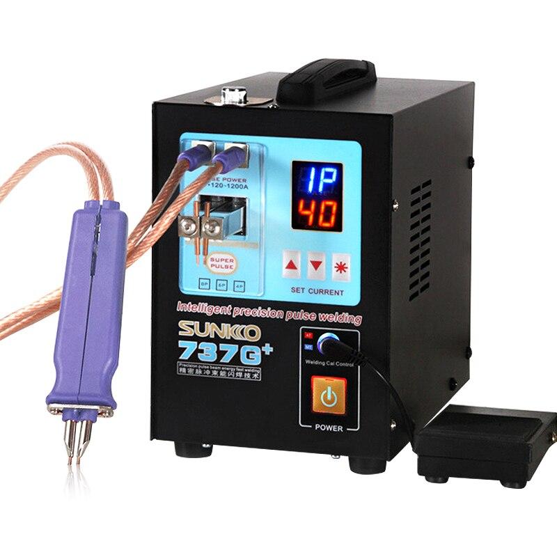 Sunkko 737g + soldador do ponto da bateria 4.3kw máquina de soldadura automática alta potência do ponto para 18650 baterias de lítio soldadores do ponto do pulso
