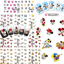 BLE2248-2258 11 Pcs/Lot Cute Cartoon Nail Stickers Mixed Water Transfer Decals Art Tips Decoration For Woman/Girls