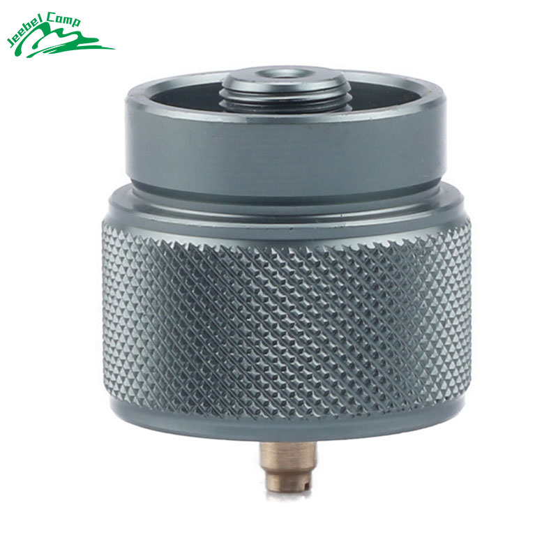 1 lb. propane small gas tank input EN417 Lindal Valve Output New outdoor camping stove Convert cylinder LPG canister adapter