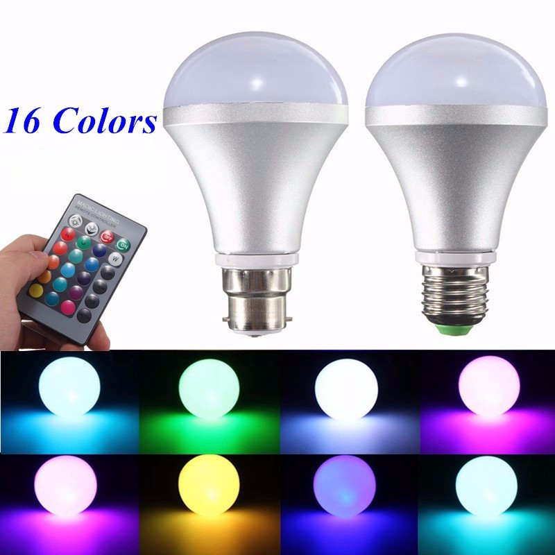 E27/B22 20W LED Bulb Spot Flood Light Lamp RGB Color Changing Home Energy Saving Lamp 85-265V with Remote high quality e14 3w rgb led color changing chandelier candlestick candle light bulb lamp 85 265v with 24key remote controller